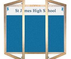 Wooden Lockable Felt Board Personalised