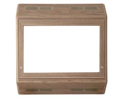 Wall-mounted anti-ligature TV cabinet - Dark Elm finish