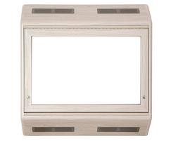 Wall-mounted anti-ligature TV cabinet - White finish