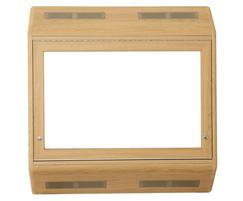 Wall-mounted anti-ligature TV cabinet - Oak finish