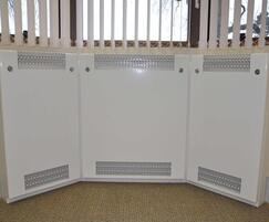 Contour bay window radiator guards