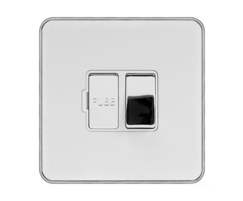 13A Switched Fuse Flex Outlet White Inserts Screwless