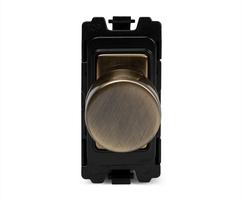 Antique brass 6A dummy dimmer switch grid module