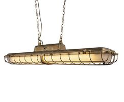 Warwick brass industrial strip light