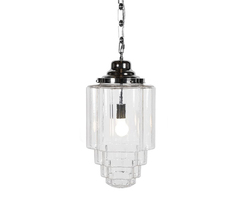 Glasshouse Nickel Clear Pendant Light