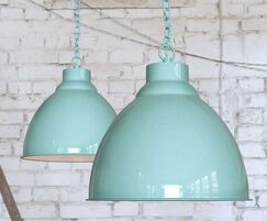Oxford Pendant Lights - Light Duck Egg Blue Turquoise