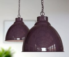 Oxford Pendant Lights - Mulberry Red Maroon