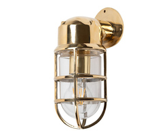Kemp IP66 Rated Polished Brass Wall Light