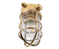 Kemp Polished Brass Grid IP66 Ceiling Light
