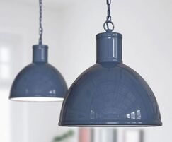 Wardour Industrial Bay Pendant Light Leaden Grey Slate