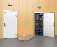 Industrial single leaf steel doors