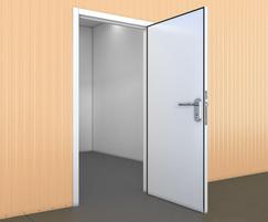 Industrial single leaf steel door