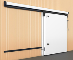 Sliding refrigeration door