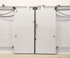Sliding double-leaf industrial doors