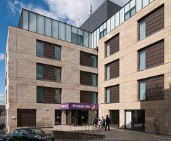 Catcastle Buff cladding stone - Premier Inn