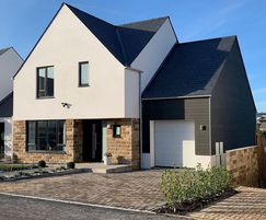 Catcastle Grey sandstone cladding for Wrenman Homes