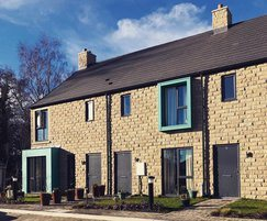 Dunhouse Buff sandstone cladding for social housing