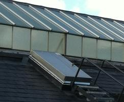 Roof hatches at Ironmonger Row Baths