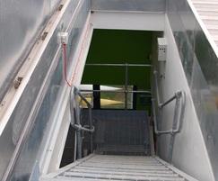 Service stair access via NSHEV