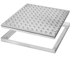 Tread plate access cover