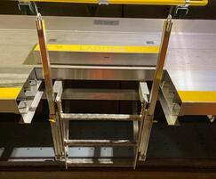 Aluminium Ladder Up® Safety Posts for Crossrail