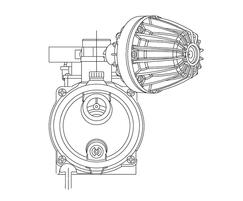 Tecnoplus horizontal variable speed booster pump detail