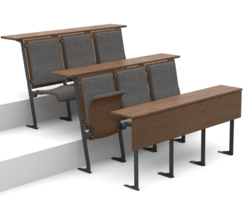 Apollo seating - wooden back with upholstered seats