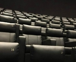 Seats have a stylish black leatherette upholstery