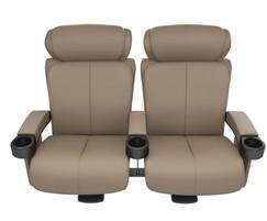 Cinema seating with luxurious, sleek design