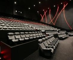 Opus seating range for cinemas
