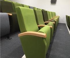 Options include wooden or upholstered armrests