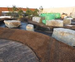 Installation of green roof on London office development