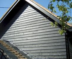 Q-Clad® pre-painted, black rebated timber cladding