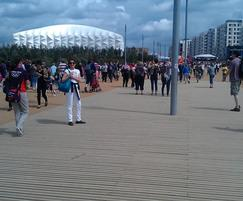 Decking for F03 bridge in London 2012 Olympic Park