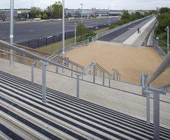 Anti-slip stair treads, T12 temporary bridge