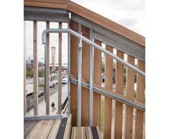 Anti-slip stair treads and Siberian larch cladding