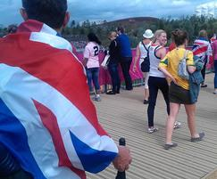 Decking on F02 bridge at London 2012 Olympic Park