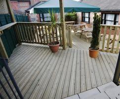 Slip resistant decking used for pub in Arundel