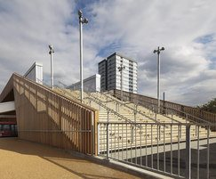 Decking on stairs in London 2012 Olympic Park