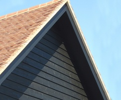 Q Clad® pre painted, black rebated timber cladding