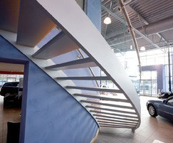 Steel curved staircase