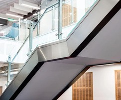Fully bespoke stainless steel staircase