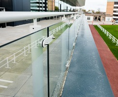 Glass balustrade at Doncaster Racecourse