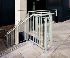 Bespoke external steel staircase and balustrade