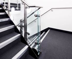 Bespoke balustrade with glass infill