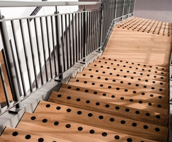 Circular grip edges provide safety on stairs
