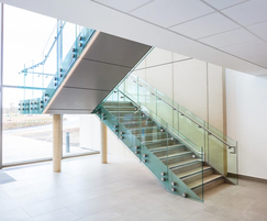 Bespoke staircase and glass infill balustrade
