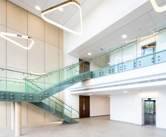 Bespoke balustrade and stairs for research centre