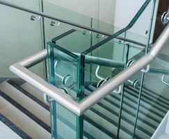 Handrail glass infill balustrade