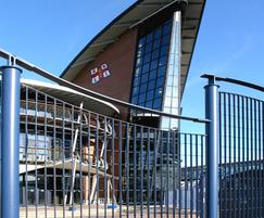 Roma-2 bespoke steel grating fence, RNLI, Poole